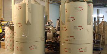 silos impianto di acquacoltura