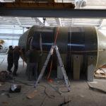 costruzione serbatoio pvc vetroresina